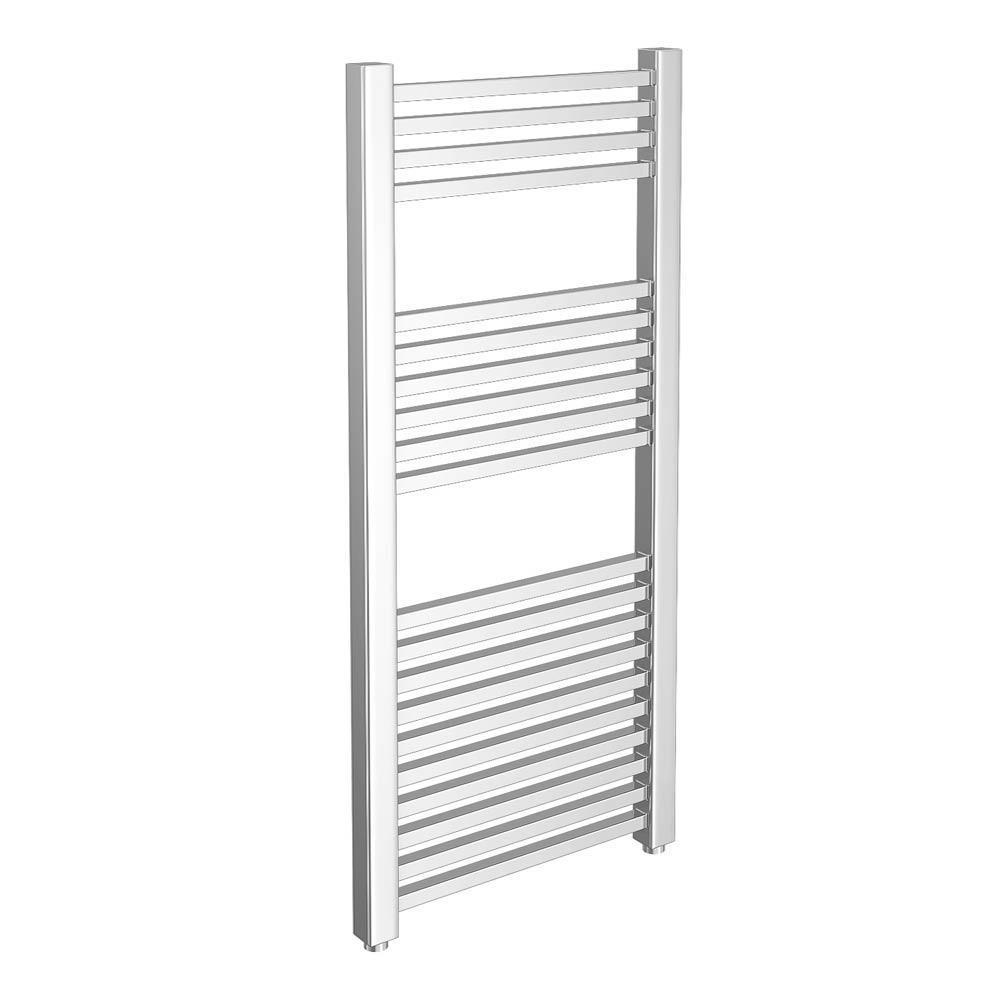 Cube Heated Towel Rail - Chrome (600 x 1200mm) Large Image