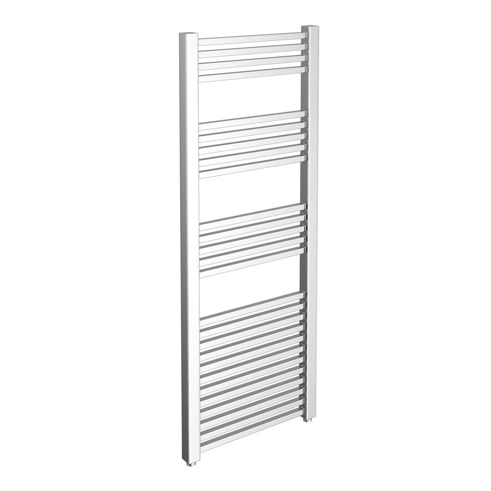 Cube Heated Towel Rail - Chrome (600 x 1600mm) Large Image