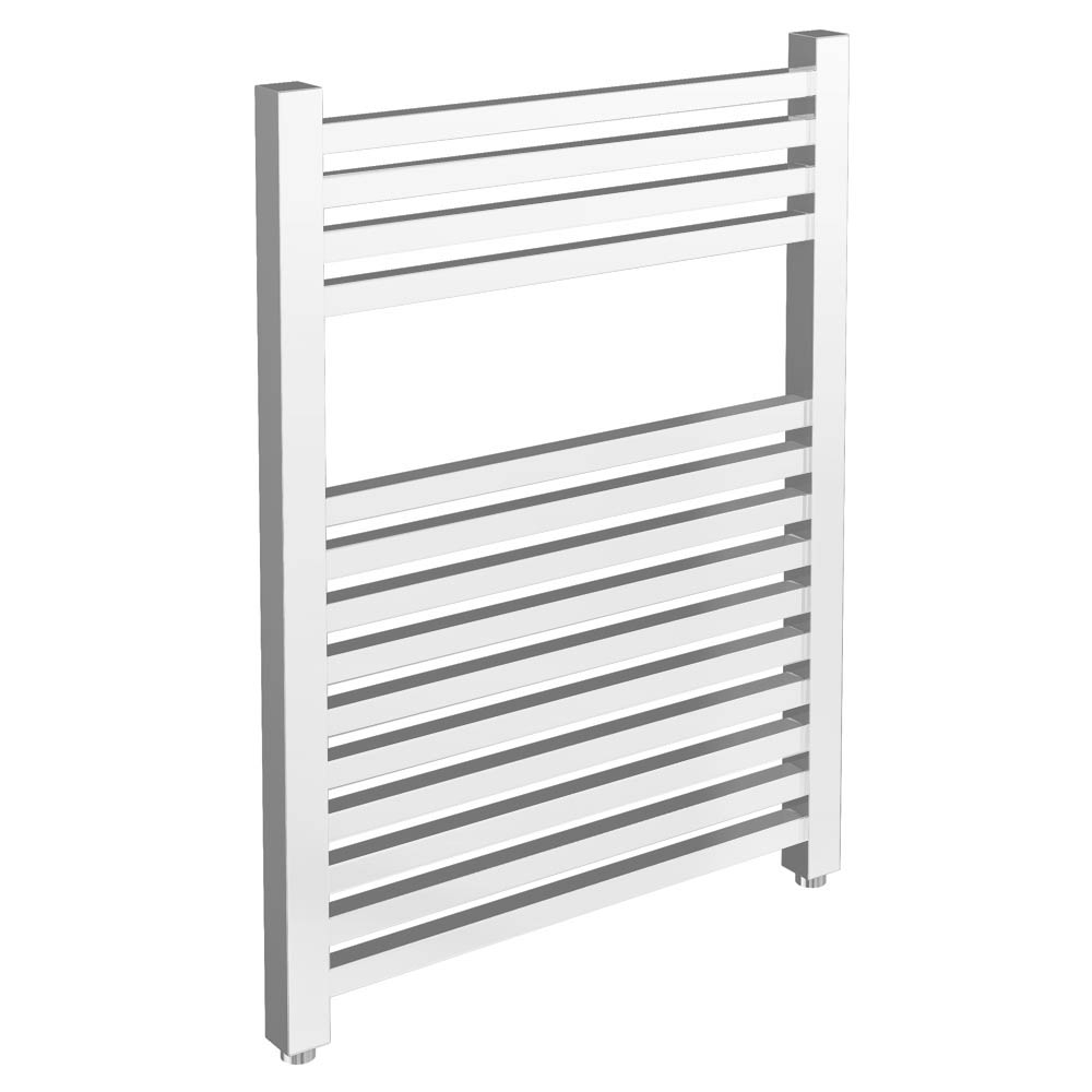 Cube Heated Towel Rail - Chrome (500 x 800mm) Large Image