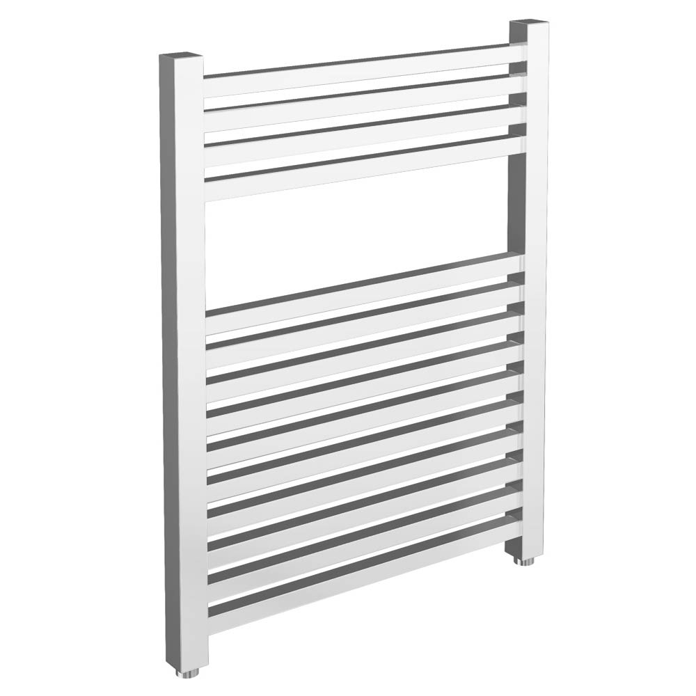 Cube Heated Towel Rail - Chrome (600 x 800mm) profile large image view 1