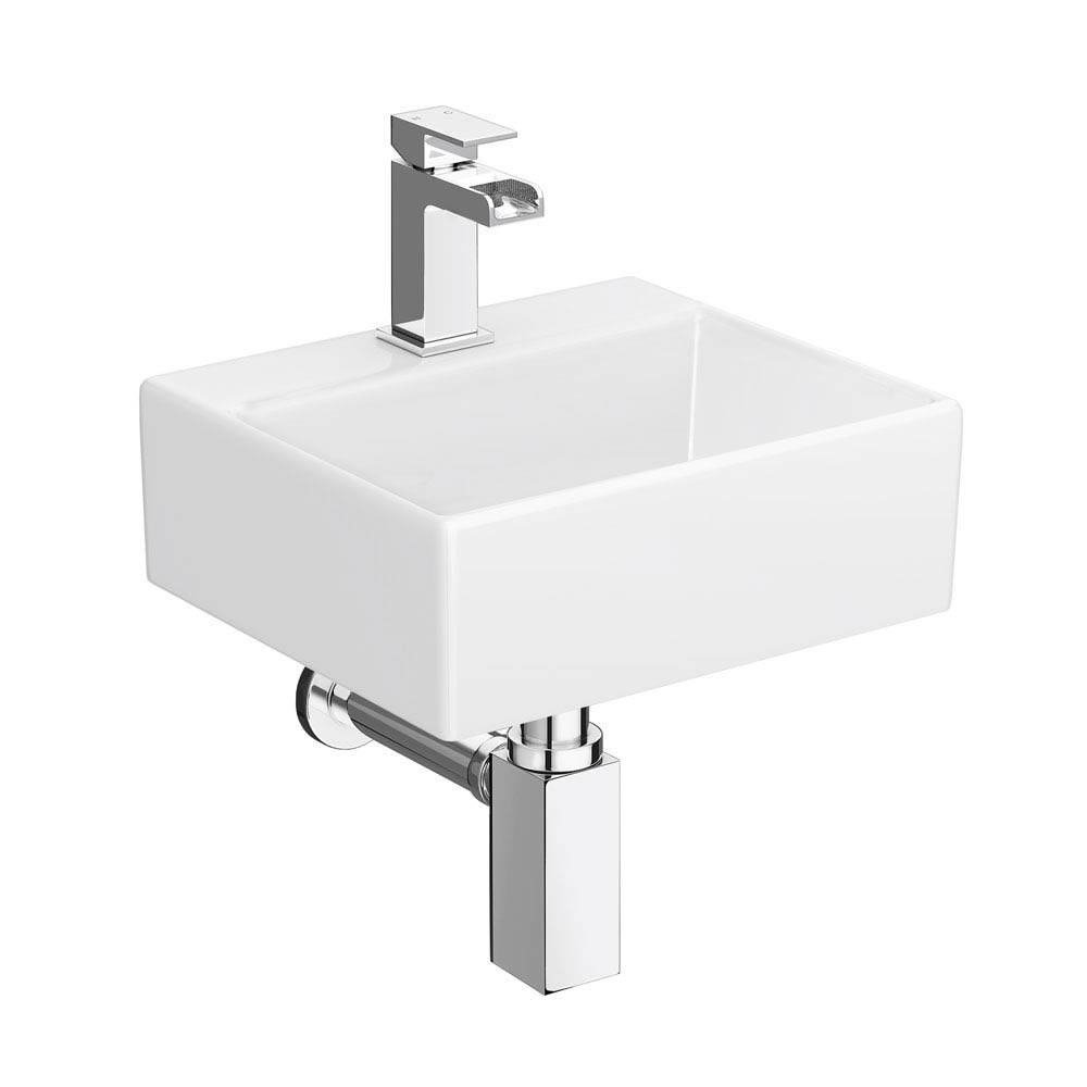 Cubetto Wall Hung Basin Package - 1 Tap Hole Large Image