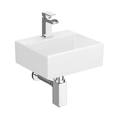 Cubetto Wall Hung Basin Package - 1 Tap Hole