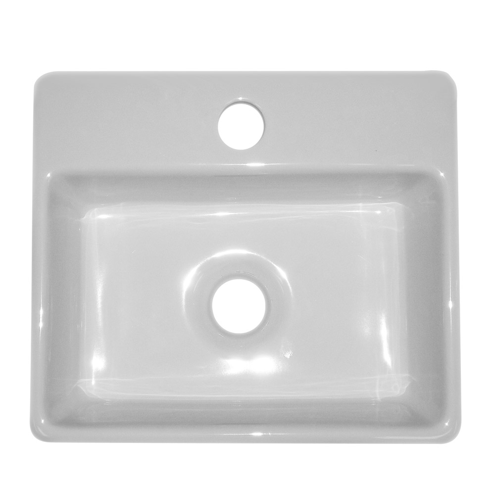 Cubetto Wall Hung Small Cloakroom Basin 1TH - 330 x 290mm Feature Large Image