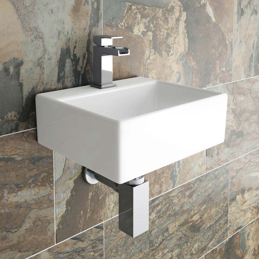 Cubetto Wall Hung Small Cloakroom Basin Online At