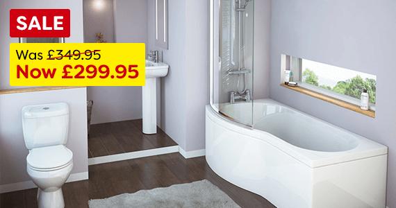 Curved Modern Shower Bath Suite