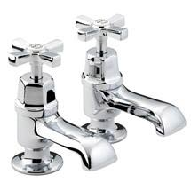 Bristan Art Deco Traditional Bath Taps - Chrome - D-3/4-C-CD Medium Image