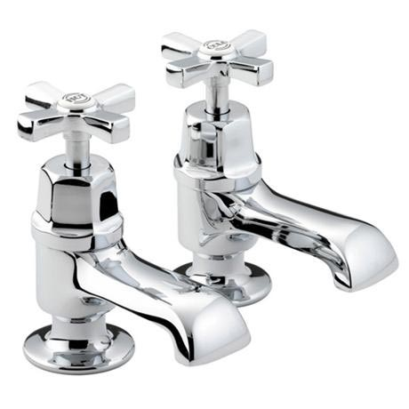 Bristan Art Deco Traditional Bath Taps - Chrome - D-3/4-C-CD