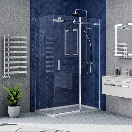 Nova 1200 x 800 Frameless Sliding Door Shower Enclosure