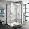 Nova Frameless 1200 x 900 Sliding Door Shower Enclosure profile small image view 1