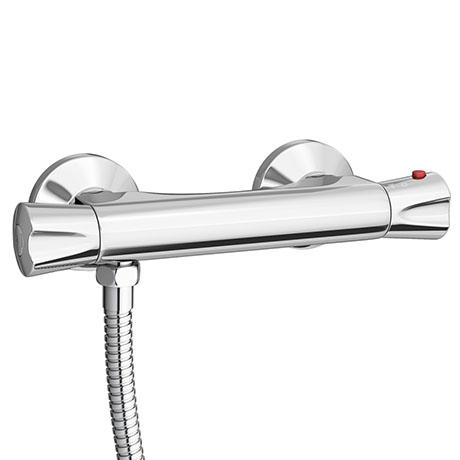 Naples Round Offset Outlet Thermostatic Bar Shower Valve