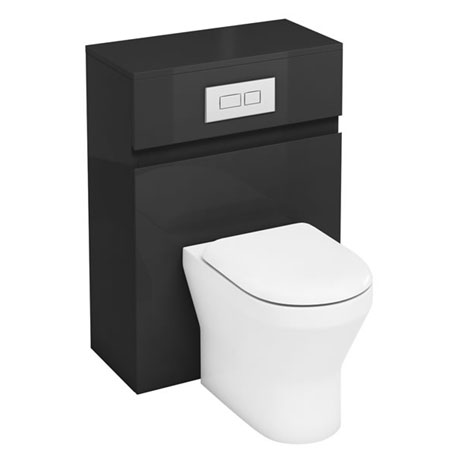 Aqua Cabinets - W600 x D300mm BTW Unit with pan, cistern & flush plate - Anthracite Grey