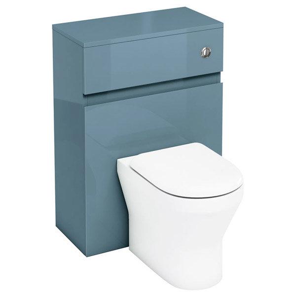 Aqua Cabinets - W600 x D300mm BTW Unit with pan, cistern & flush button - Ocean profile large image view 1