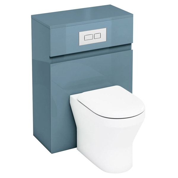 Aqua Cabinets - W600 x D300mm BTW Unit with pan, cistern & flush plate - Ocean Large Image