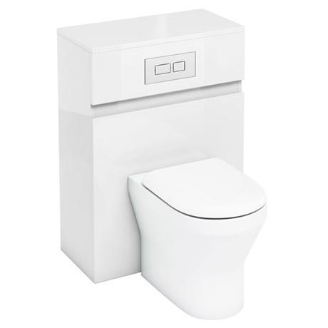 Aqua Cabinets - W600 x D300mm BTW Unit with pan, cistern & flush plate - White