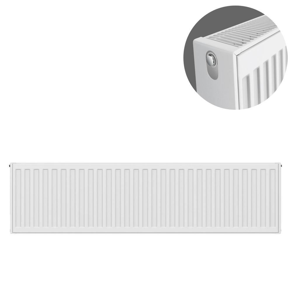 Type 22 H300 x W1000mm Compact Double Convector Radiator - D310K