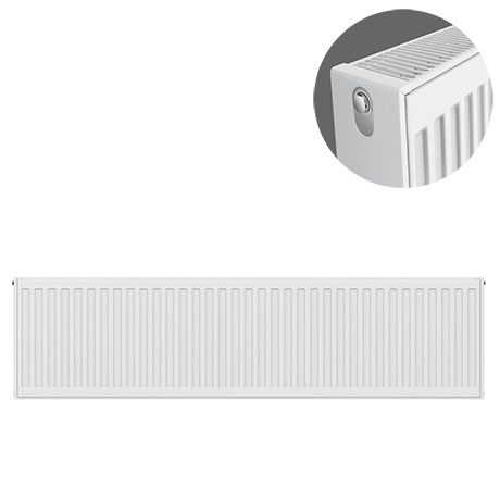 Type 22 H300 x W1200mm Compact Double Convector Radiator - D312K