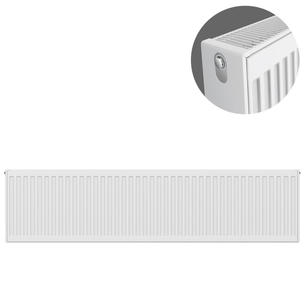 Type 22 H300 x W1400mm Compact Double Convector Radiator - D314K