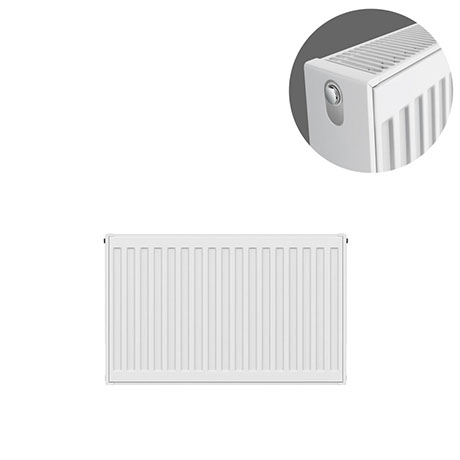 Type 22 H400 x W600mm Compact Double Convector Radiator - D406K
