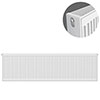 Type 22 H400 x W1200mm Compact Double Convector Radiator - D412K profile small image view 1