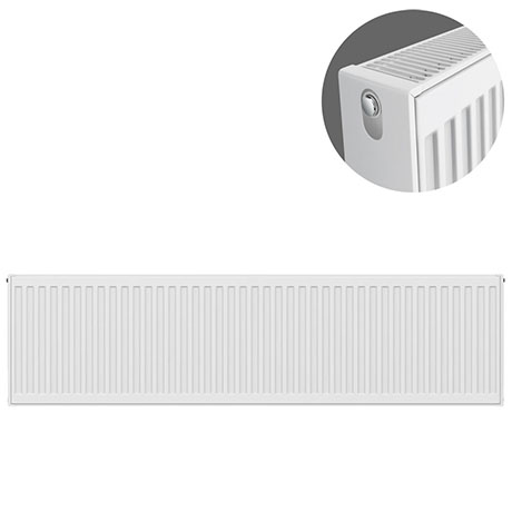 Type 22 H400 x W1400mm Compact Double Convector Radiator - D414K