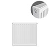 Type 22 H500 x W400mm Compact Double Convector Radiator - D504K profile small image view 1