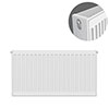 Type 22 H500 x W700mm Compact Double Convector Radiator - D507K profile small image view 1
