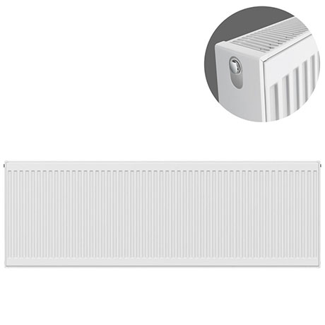 Type 22 H500 x W1800mm Compact Double Convector Radiator - D518K