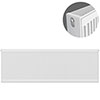 Type 22 H500 x W2000mm Compact Double Convector Radiator - D520K profile small image view 1