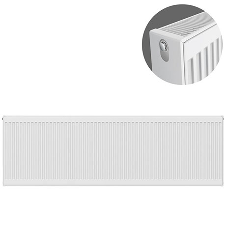 Type 22 H500 x W2400mm Compact Double Convector Radiator - D524K