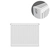 Type 22 H600 x W500mm Compact Double Convector Radiator - D605K profile small image view 1