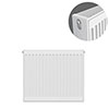 Type 22 H600 x W600mm Compact Double Convector Radiator - D606K profile small image view 1