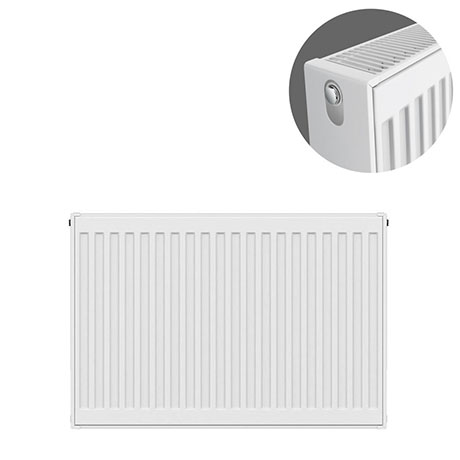 Type 22 H600 x W700mm Compact Double Convector Radiator - D607K