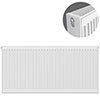 Type 22 H600 x W1200mm Compact Double Convector Radiator - D612K profile small image view 1