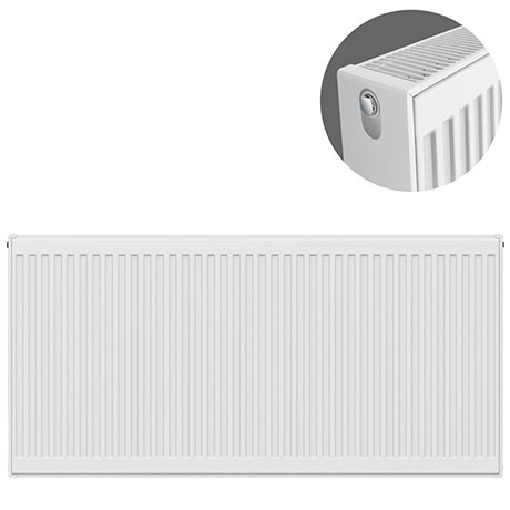 Type 22 H600 x W1300mm Compact Double Convector Radiator - D613K