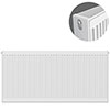 Type 22 H600 x W1300mm Compact Double Convector Radiator - D613K profile small image view 1