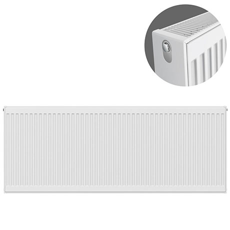 Type 22 H600 x W1600mm Compact Double Convector Radiator - D616K