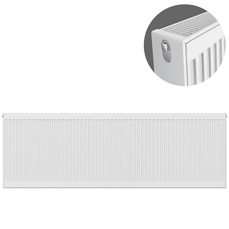Type 22 H600 x W2400mm Compact Double Convector Radiator - D624K