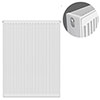 Type 22 H900 x W700mm Compact Double Convector Radiator - D907K profile small image view 1