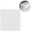 Type 22 H900 x W900mm Compact Double Convector Radiator - D909K profile small image view 1