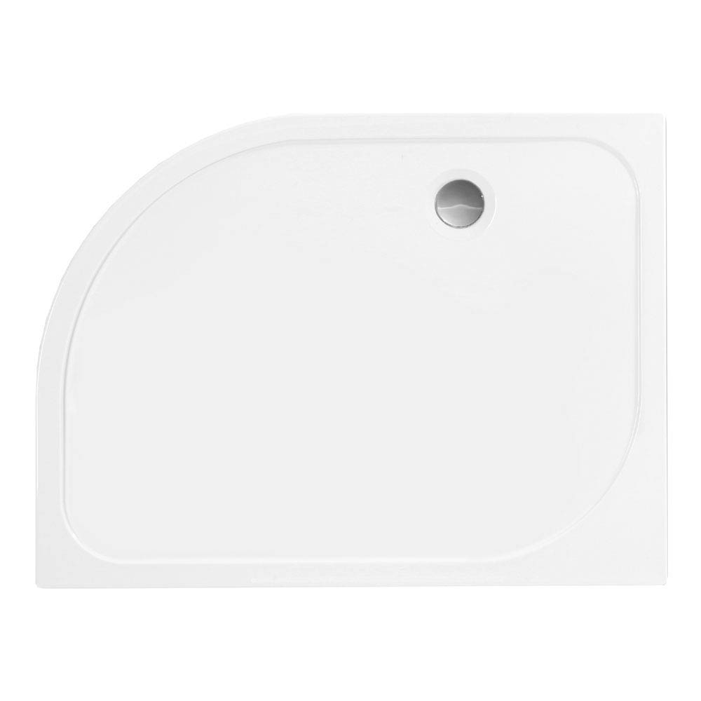 Merlyn MStone Offset Quadrant Shower Tray - Right Hand Large Image