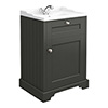 Old London Traditional Vanity Unit (600mm Wide - Charcoal) profile small image view 1