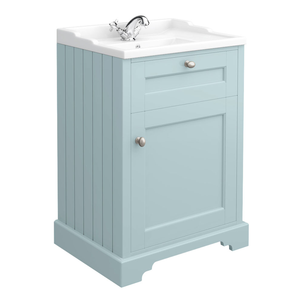 Old London Traditional Vanity Unit (600mm Wide - Duck Egg Blue)
