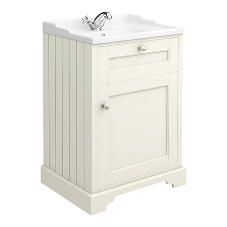 Old London Traditional Vanity Unit (600mm Wide - Ivory)