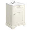 Old London Traditional Vanity Unit (600mm Wide - Ivory) profile small image view 1