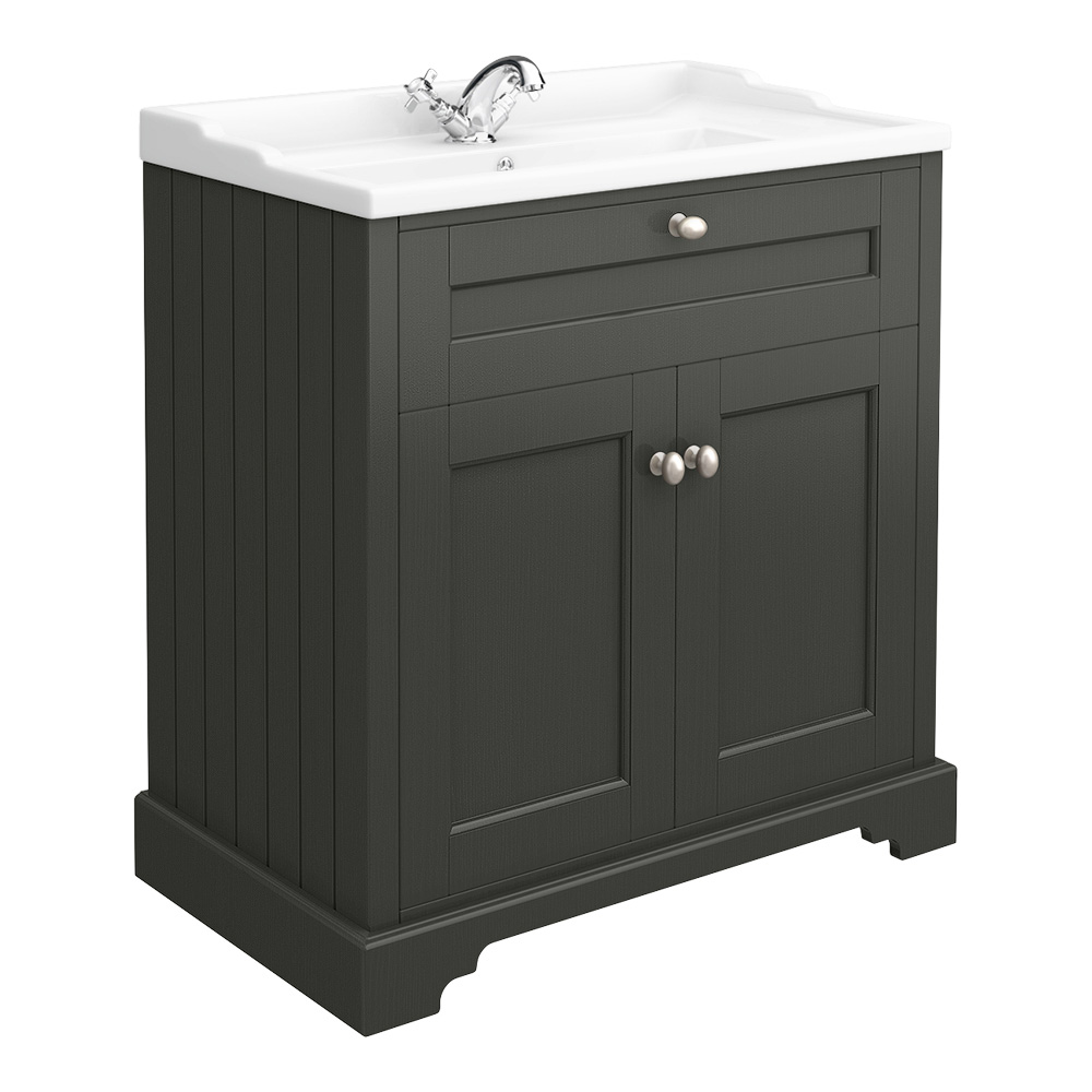 Old London Traditional Vanity Unit (800mm Wide - Charcoal)