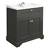 Old London Traditional Vanity Unit (800mm Wide - Charcoal) profile small image view 1