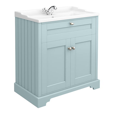Old London Traditional Vanity Unit (800mm Wide - Duck Egg Blue)