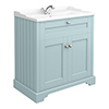 Old London Traditional Vanity Unit (800mm Wide - Duck Egg Blue) profile small image view 1