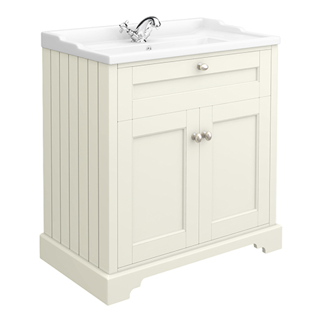 Old London Traditional Vanity Unit (800mm Wide - Ivory)