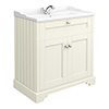 Old London Traditional Vanity Unit (800mm Wide - Ivory) profile small image view 1